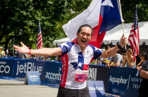 2013 NYC Triathlong - Finish Line